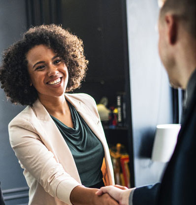 Request a Consultation - Happy Handshake | Affinity Consulting