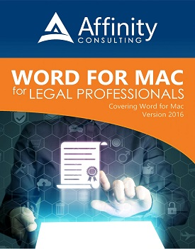 ACG Word for Mac Manual Cover | Legal Software Training