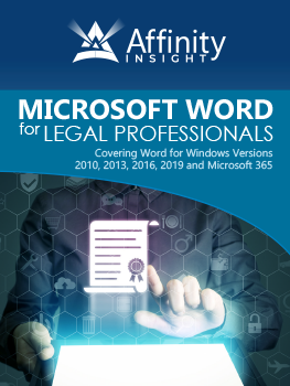Microsoft Word for Legal Professionals Manual | Legal Microsoft Office Training