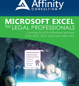 Excel Manual for Legal Professionals | Legal Microsoft Office Training