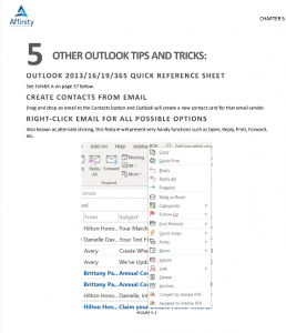 Microsoft Outlook for Legal Professionals Sample Pages | Legal Microsoft Office Training