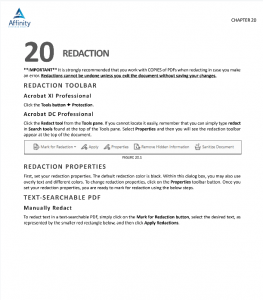 Adobe Acrobate for Legal Professionals Chapter 20 Sample page | Legal Software Training