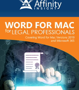Microsoft Word for MAC Manual O365 | Legal Microsoft Office Training