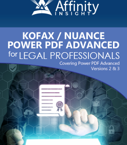 Kofax (Nuance) Power PDF Advanced Manual | Legal pdf Software Training