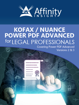 Kofax (Nuance) Power PDF Advanced Manual | Legal pdf Software Training