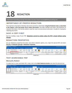 Kofax (Nuance) Power PDF Advanced for Legal Professionals Manual | Legal PDF Software Training