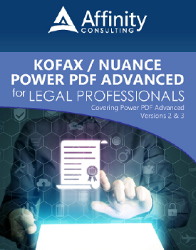 Kofax/Nuance Power PDF Advanced for Legal Professionals manual | Legal Software Training