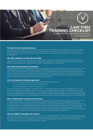 Law Firm Training Checklist