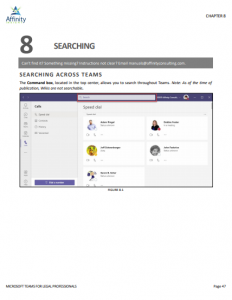 Microsoft Teams for Legal Professionals Manual Sample Chapter | Legal Microsoft Office Training