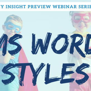 Affinity Insight Preview Series - Word Styles | Legal Microsoft Office Training